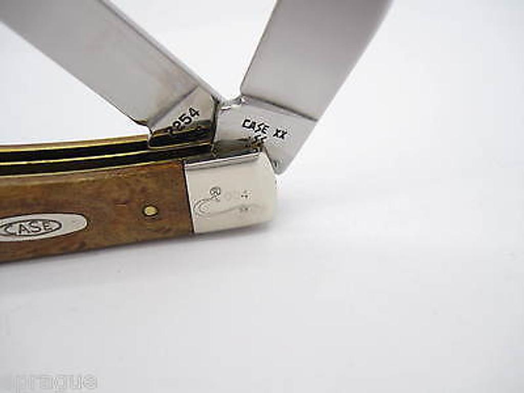 1889-1989 CENTENNIAL CASE XX 7254 TRAPPER FOLDING POCKET KNIFE CURLY MAPLE