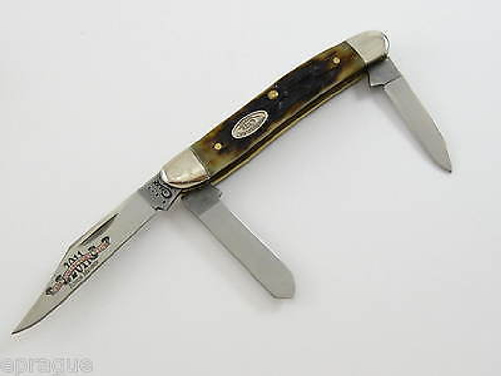 '11 CASE XX 63087 HOLLOW GROUND STOCKMAN FOLDING KNIFE 30th COLLECTOR CLUB