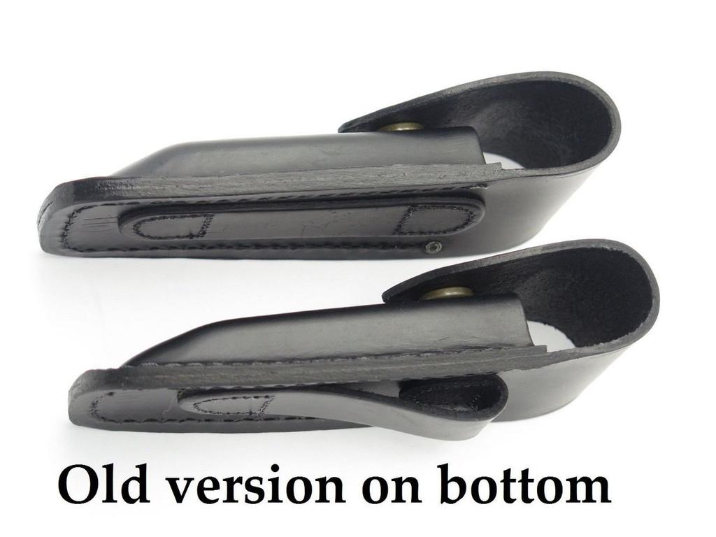 BUCK 110 426 BUCKLITE *OLD BELT LOOP* BLACK LEATHER FOLDING HUNTER KNIFE SHEATH
