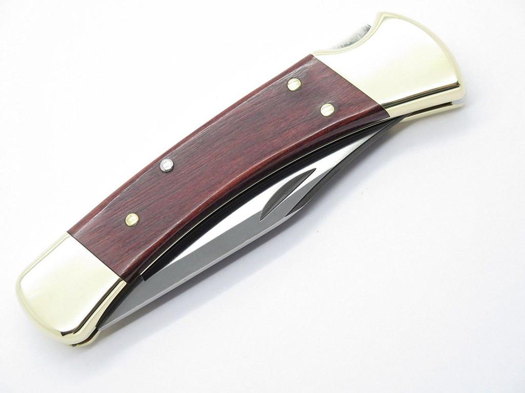 BUCK 110 FOLDING HUNTER LOCKBACK KNIFE ROSEWOOD & S30V BLADE - FACTORY 2nd