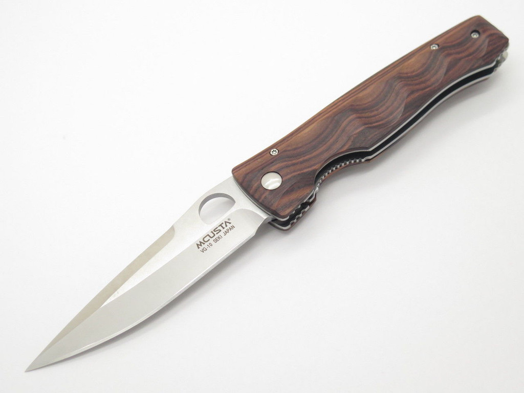 MCUSTA SEKI JAPAN TACTILITY ELITE MC-122R ROSEWOOD VG-10 FOLDING POCKET KNIFE