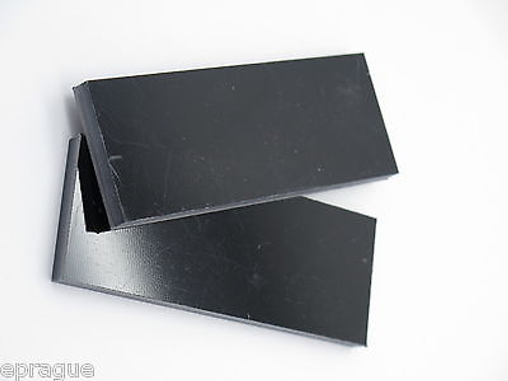 "2 pcs BLACK G10 1/4 SCALE SLAB KNIFE MAKING HANDLE MATERIAL BLANK 4"" LONG"