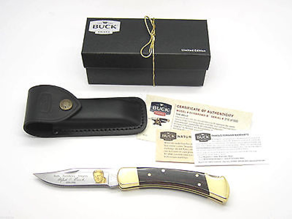 BUCK 110 0110BRSW LIMITED 1964-2014 50th ANNIVERSARY WELD FOLDING HUNTER KNIFE