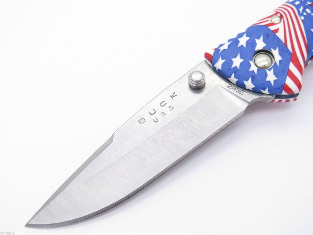 BUCK 285 BANTAM USA US AMERICAN FLAG MED. FOLDING HUNTER LOCKBACK POCKET KNIFE