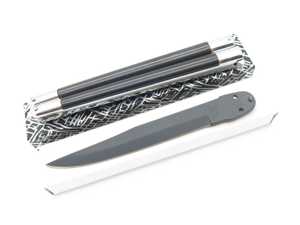 VINTAGE KNIFE MAKING KIT VALOR 566 SEKI JAPAN BUTTERFLY BALISONG FOLDING POCKET KNIFE