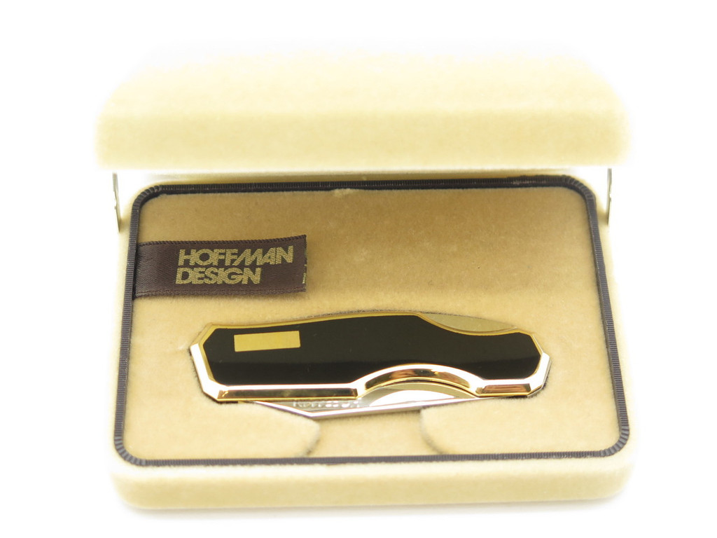 VTG HOFFMAN 88 KAWAKAMI BLACK SEKI JAPAN GENTLEMAN FOLDING LOCKBACK POCKET KNIFE
