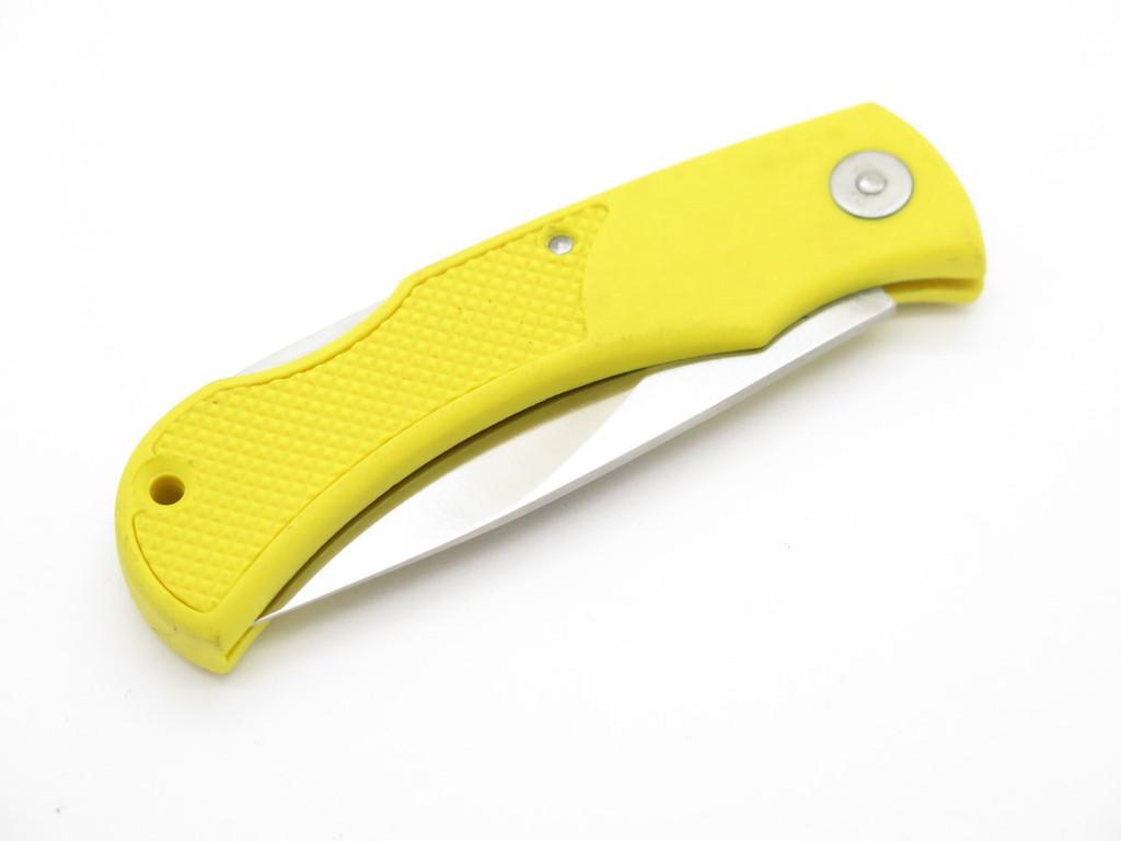 VTG ARISTOCRAT TROPHY SEKI JAPAN YELLOW LIGHT LOCKBACK FOLDING POCKET KNIFE
