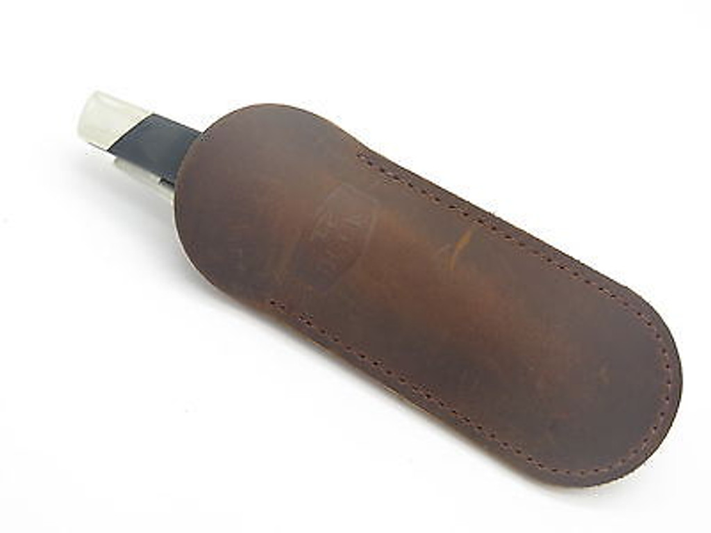 BUCK 500 301 532 BUCKLOCK BROWN DISTRESSED LEATHER FOLDING KNIFE SHEATH