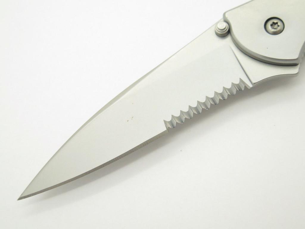 08 KERSHAW 1660 1660ST LEEK COMBO STAINLESS KEN ONION FOLDING POCKET KNIFE