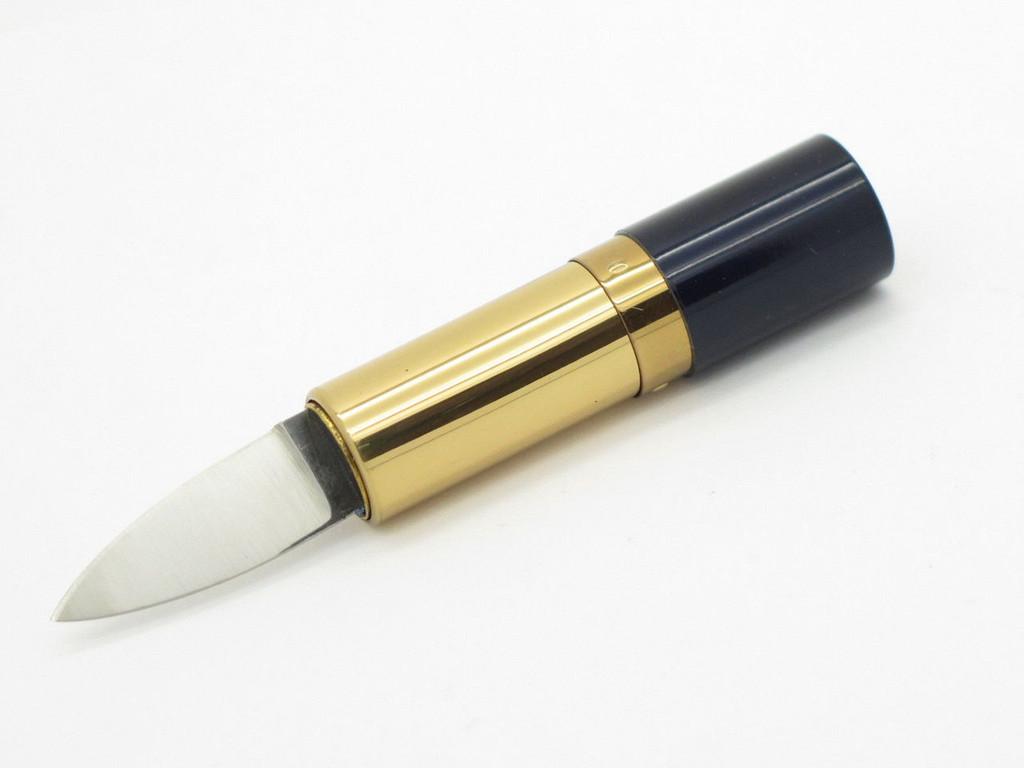 Parker Frost K-343 Seki Japan Lipstick Pocket Purse Knife