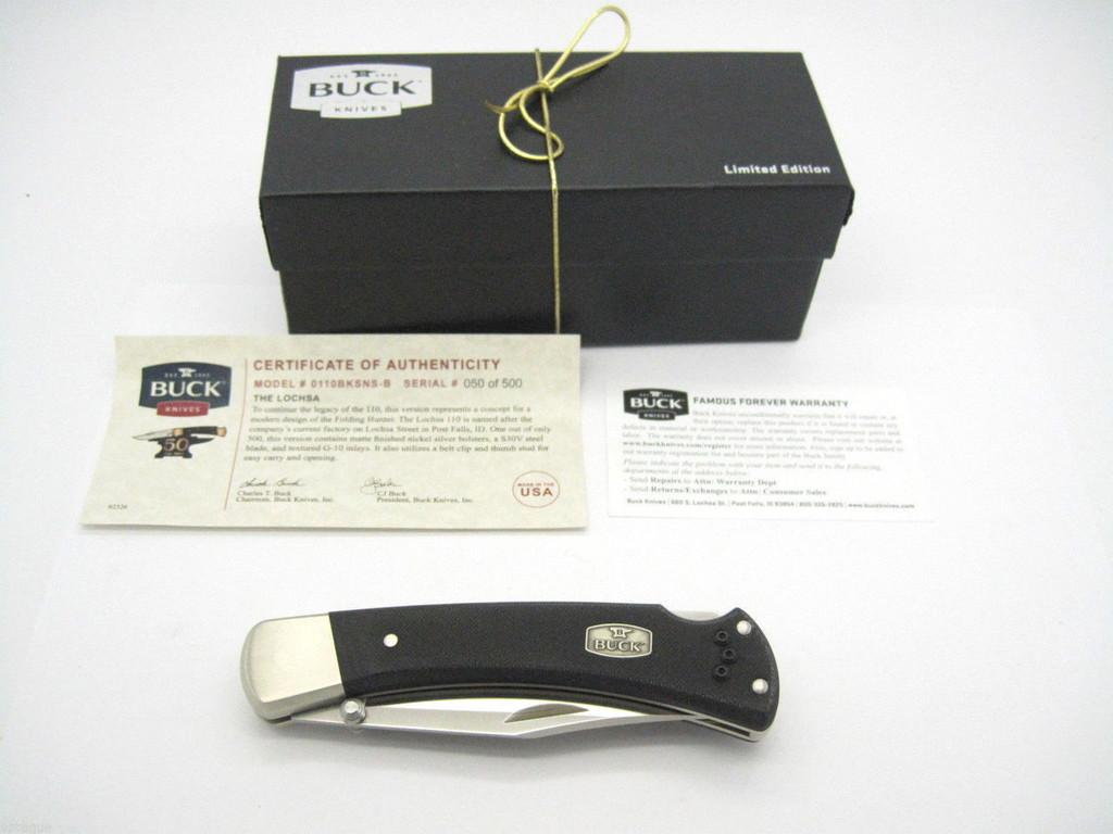 Buck 110 S30V Lochsa 50th Anniversary Folding Hunter Lockback Knife w/ Pocket Clip