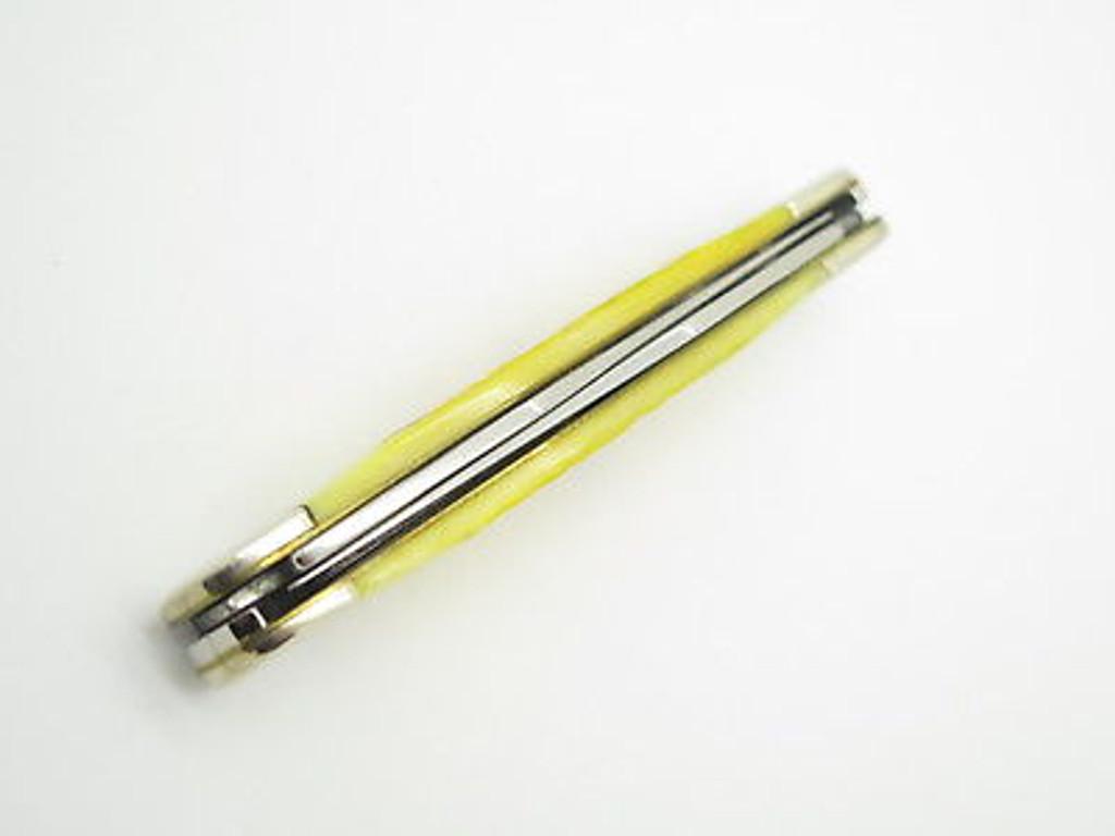 2000 CASE XX MUSKRAT FOLDING POCKET KNIFE 02635 JIGGED YELLOW BONE
