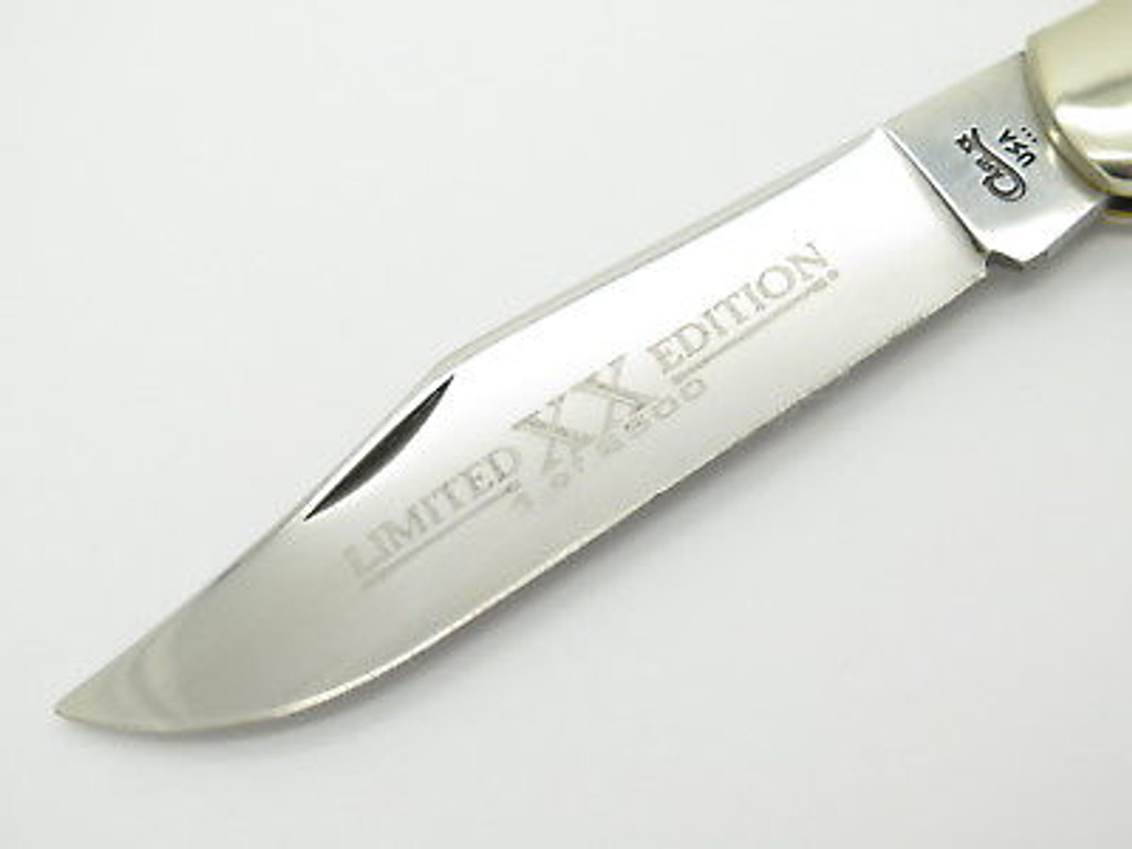 1996 CASE XX 61050 COKE BOTTLE FOLDING HUNTER KNIFE BLACK BONE LIMITED