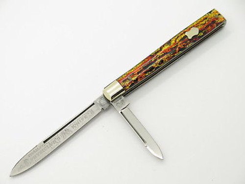 CIRCA 1990 FIGHT'N ROOSTER FRANK BUSTER CELLULOID DOCTOR CELLULOID FOLDING KNIFE
