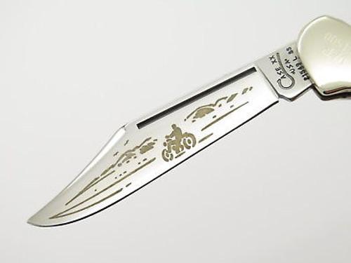 1998 CASE XX 21549 MOTORCYCLE BIKER COPPERLOCK FOLDING POCKET KNIFE