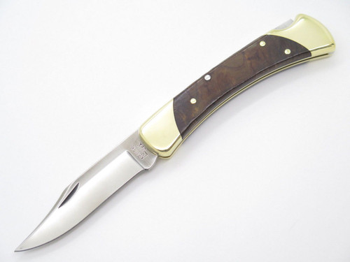 BUCK 111 111BOLC1 FOLDING HUNTER LOCKBACK KNIFE CUSTOM LIMITED IRONWOOD S30V 110