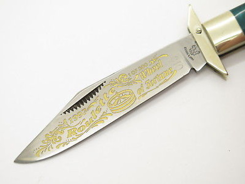 '97 FIGHT'N ROOSTER FRANK BUSTER CASINO CHEETAH SWING GUARD FOLDING KNIFE