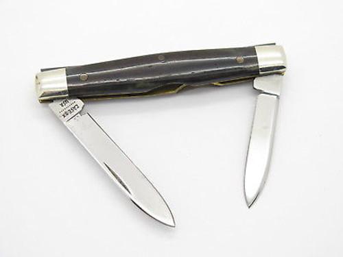 VINTAGE 1980 CASE XX 62042 SMALL APPALOOSA BONE FOLDING POCKET KNIFE