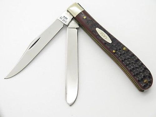 VINTAGE 1980 CASE XX 62048 SLIM LINE DELRIN TRAPPER FOLDING POCKET KNIFE