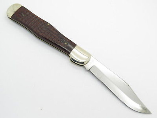 1976 CASE XX 61050 COKE BOTTLE FOLDING HUNTER KNIFE JIGGED WOOD