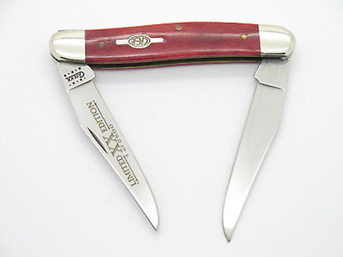 2000 CASE XX MUSKRAT STAINLESS FOLDING POCKET KNIFE RED BONE LIMITED