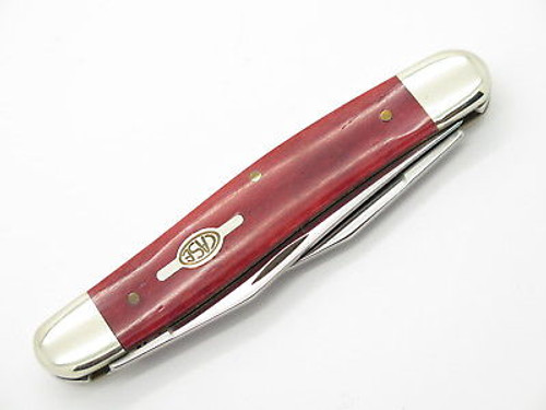 2000 CASE XX MUSKRAT STAINLESS FOLDING POCKET KNIFE RED BONE LIMITED