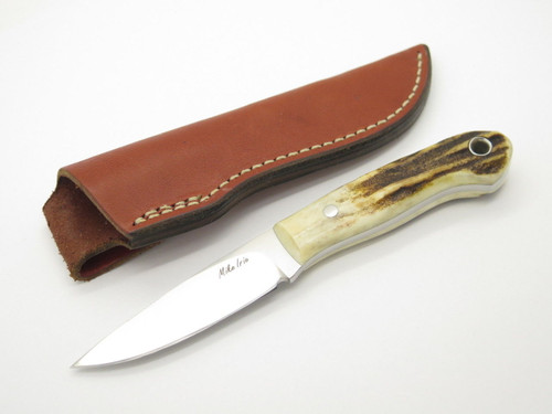 """CUSTOM MIKE IRIE SAMBAR STAG CPM-154 DROP POINT 3"""" FIXED BLADE HUNTING KNIFE"""