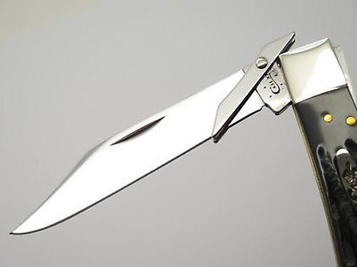 2014 CASE XX 6111 1/2 CHEETAH BUFFALO HORN SWING GUARD FOLDING KNIFE