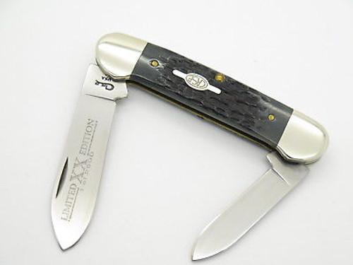 1998 CASE XX 62131 LIMITED DARK BLACK BONE CANOE FOLDING POCKET KNIFE