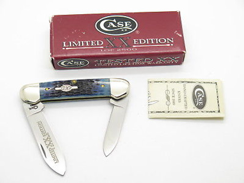 1998 CASE XX 62131 LIMITED BLUE BONE CANOE FOLDING POCKET KNIFE