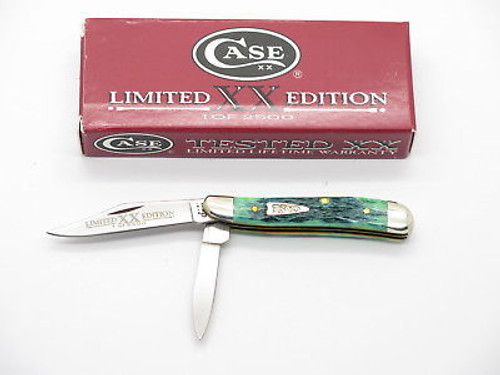 2001 LIMITED CASE XX 6220 BLUEGRASS PEANUT FOLDING POCKET KNIFE