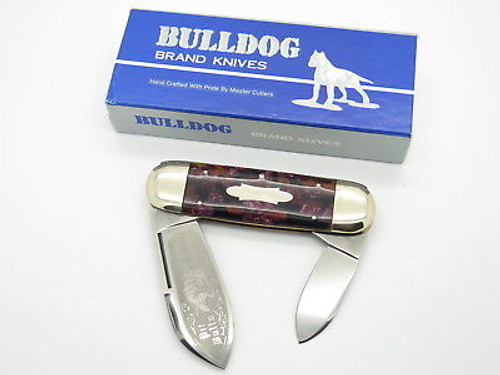 VINTAGE 1995 BULLDOG BRAND PROTOTYPE ELEPHANT TOENAIL SUNFISH KNIFE in CASE