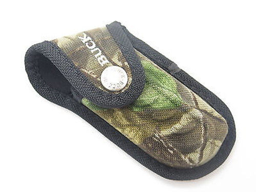 BUCK 395 OMNI HUNTER 10 PT CAMO NYLON FOLDING POCKET KNIFE SHEATH