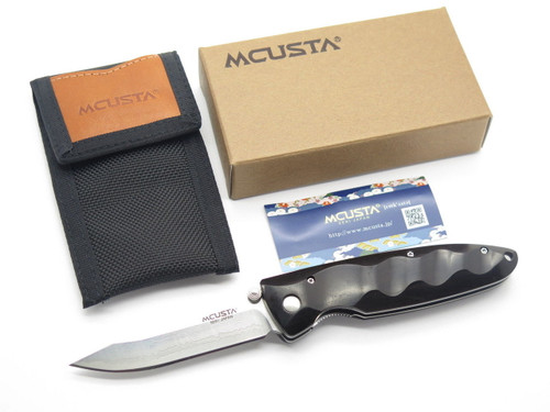 MCUSTA SEKI JAPAN BASIC MC-0023D EBONY & VG-10 DAMASCUS FOLDING POCKET KNIFE