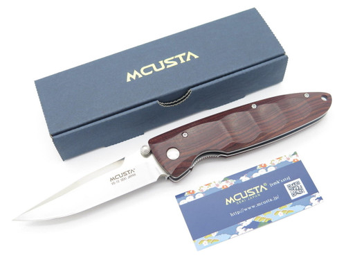 MCUSTA SEKI JAPAN BASIC MC-0014R COCOBOLO & VG-10 LINERLOCK FOLDING POCKET KNIFE