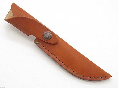 "Case XX 16-5 Medium Finn 5"" Long Fixed Blade Brown Leather Knife Sheath"