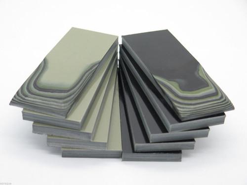 10 pc G10 1/4 BLACK TAN GREEN SCALE SLAB KNIFE MAKING HANDLE MATERIAL BLANK