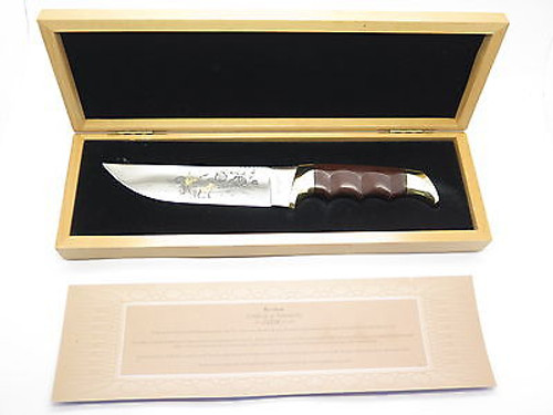 2003 KERSHAW SN 0004 LIMITED EDITION GOLDEN RETRIEVER DOG FIXED BLADE KNIFE