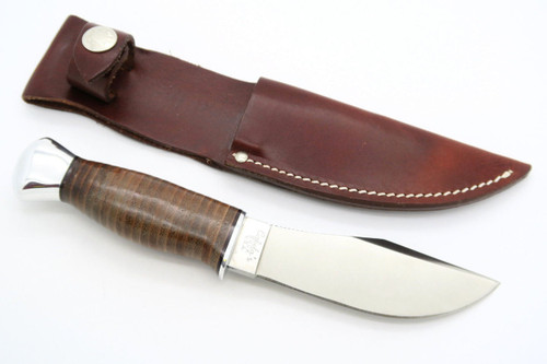 VINTAGE BUCK CABELAS 914 WOODSMAN MARBLES LEATHER SKINNER FIXED BLADE HUNTING KNIFE