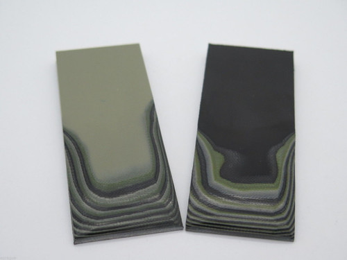 2 pcs G10 1/4 BLACK TAN GREEN SCALE SLAB KNIFE MAKING HANDLE MATERIAL BLANK