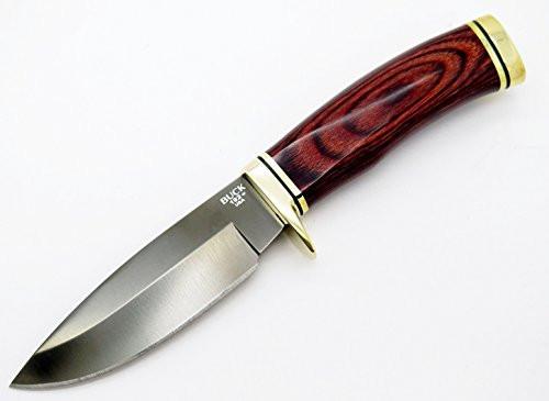 Buck 192 Vanguard * Black Titanium Coated S30v Fixed Blade * Hunting Knife Rosewood ~ New Fb 0192RWSSP58