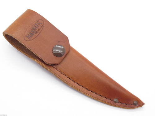 "MARBLES LEATHER SMALL HUNTING BIRD TROUT FIXED BLADE KNIFE SHEATH 6.5"" OA"
