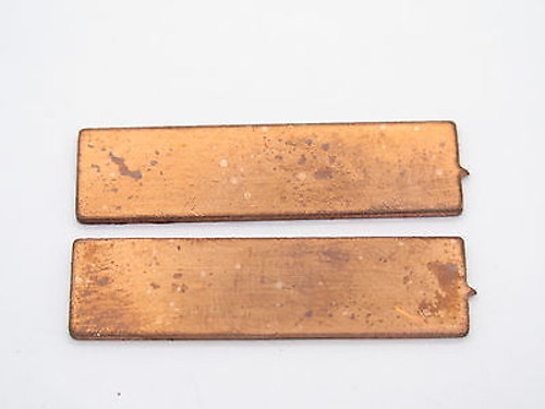 "Lot of 2 - USA 0.040"" COPPER SPACER FIXED BLADE KNIFE HANDLE MAKING PART"