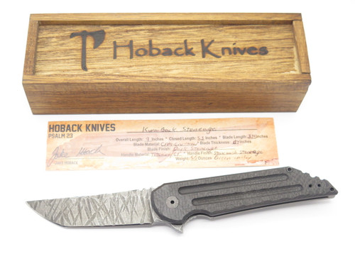 JAKE HOBACK KWAIBACK CUSTOM STONEAGE GRN TITANIUM FRAMELOCK FOLDING POCKET KNIFE