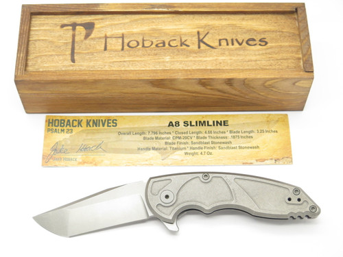 JAKE HOBACK A8 SLIMLINE SW CUSTOM TITANIUM FRAMELOCK TANTO FOLDING POCKET KNIFE