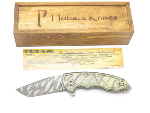 JAKE HOBACK A8 SLIMLINE TIGER STRIPE CUSTOM FRAMELOCK TANTO FOLDING POCKET KNIFE