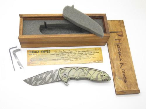 JAKE HOBACK A8 SLIMLINE TIGER STRIPE CUSTOM FRAMELOCK TANTO FOLDING POCKET KNIFE