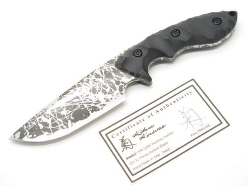 KIKU MATSUDA KM-500B MASTER HUNTER I SEKI JAPAN CUSTOM MIRROR ETCH HUNTING KNIFE
