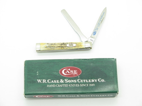 CASE XX 5282 STAG BLUE SCROLL BABY DOC DOCTOR FOLDING POCKET KNIFE