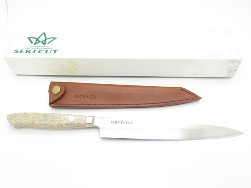 VINTAGE SEKI CUT 183 T SANETSU JAPAN SASHIMI FIXED BLADE KNIFE SUSHI KITCHEN CUTLERY